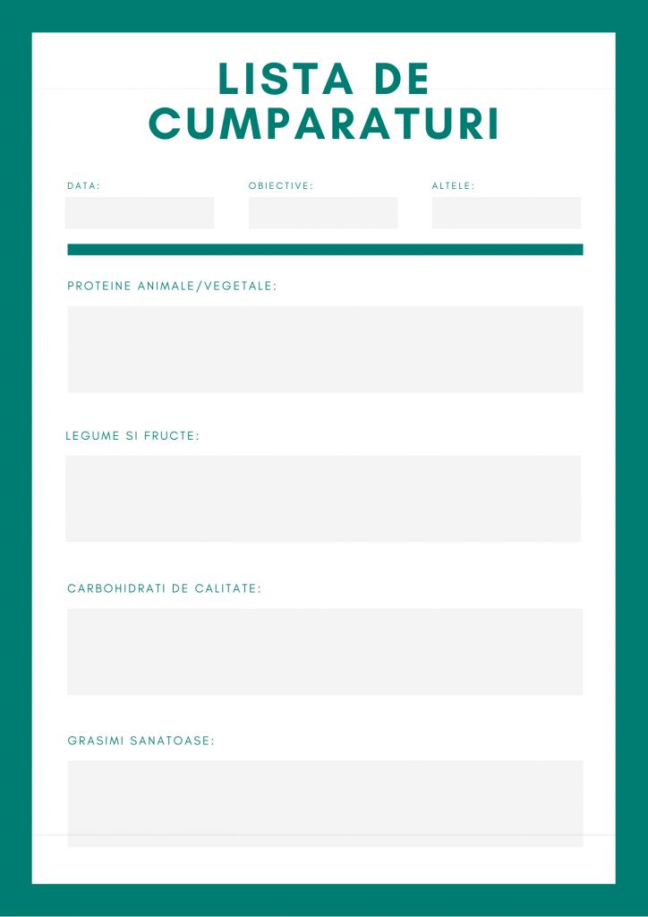 exemplu lista de cumparaturi de alimente